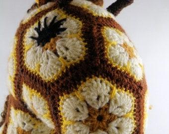 Crochet African Flower Monice Giraffe