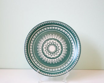 "Vintage plates ""Lima"" by Wood & Sons, England, emerald green"