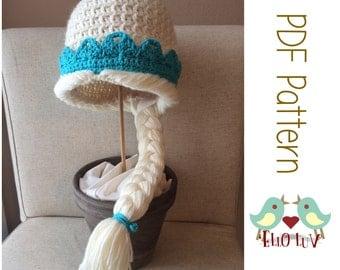 Crochet Frozen Inspired Elsa Hat Pattern