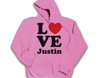 Love Justin Bieber Hoodie. All Sizes