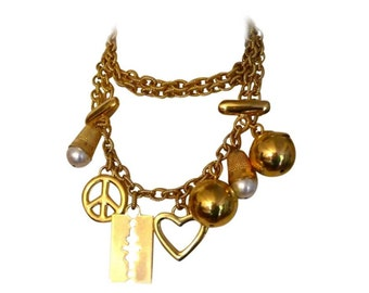 MOSCHINO by REDWALL * Gorgeous vintage charm necklace belt