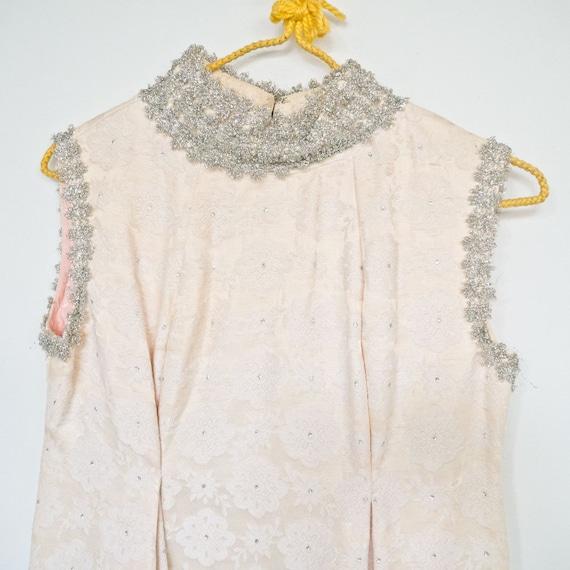 Vintage 60's Valley of the Dolls stye Full Length Party Maxi Dress Sz S
