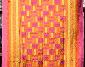 """Cotton Candy Home Crafted Quilt 80"""" x 101.5"""""""