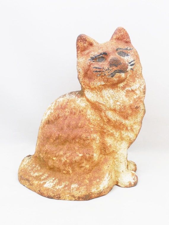 Cast Iron Cat Doorstop 8 Tall A Kitty With Wonderful
