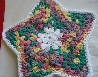 3 Piece Dish Cloth set, handmade