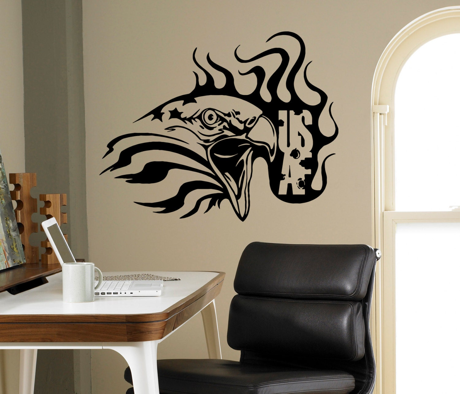 Usaf Wall Decor : Air force wall vinyl decal usaf sticker home interior