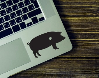 SUMMER SALE! Pig Vinyl Decal Sticker - Pig sticker - Pig silhouette -  Pig Farm Animal