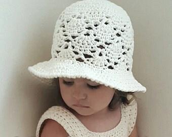 Vintage Sun Hat Crochet Pattern  *PDF FILE ONLY* Instant Download