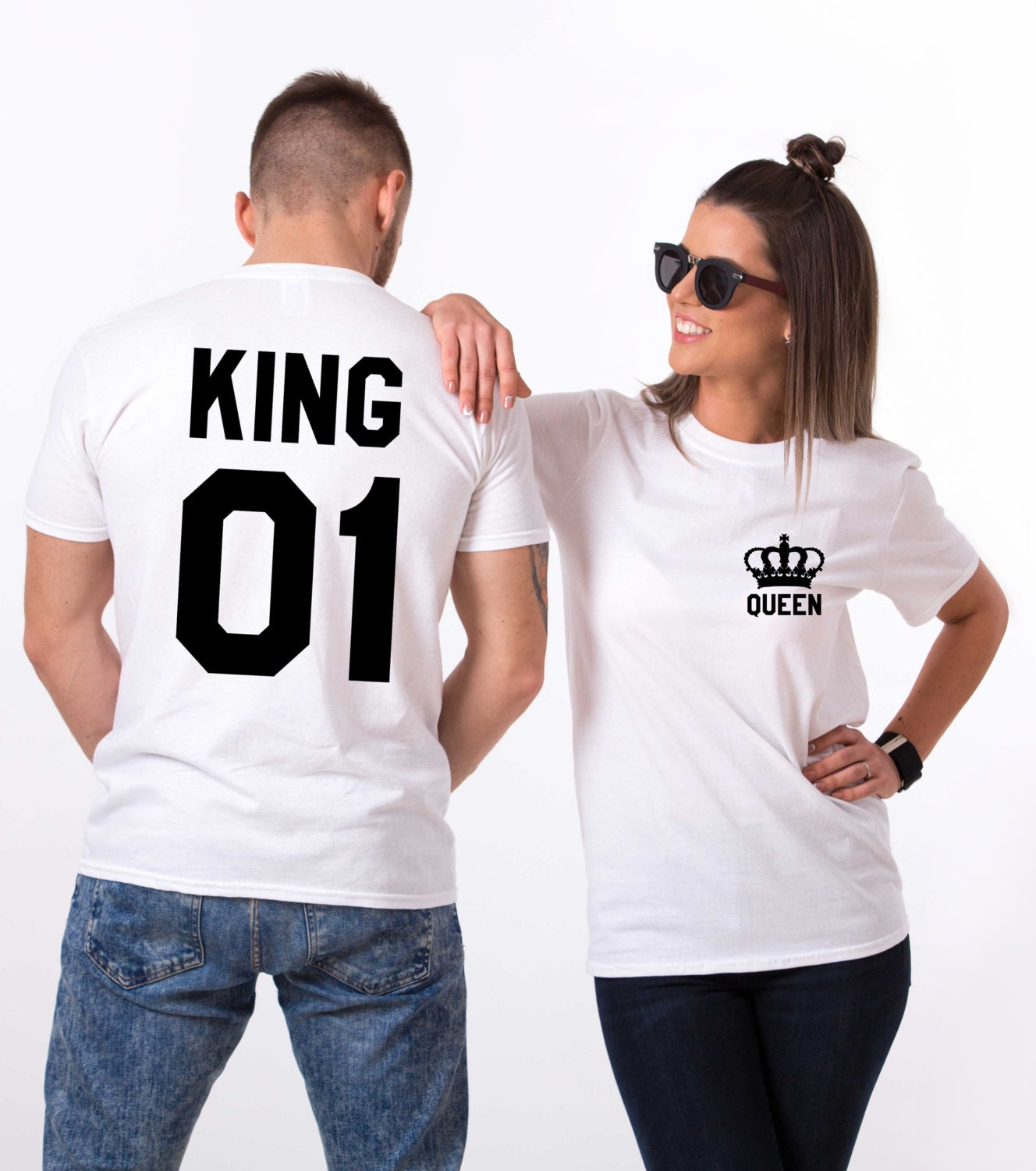 foto de King and Queen shirts with Crowns king and queen by