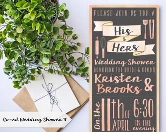 coed bridal shower | etsy, Wedding invitations