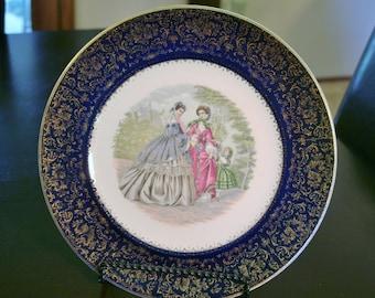 Vintage Plate 23 K Gold Trim Imperial Salem China Company