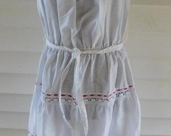 Vintage White Cotton Sundress Miss Dira New York New Old Stock