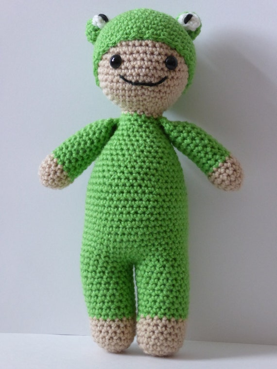 Frog Baby Doll Animal Baby Doll Baby Frog Doll Crochet