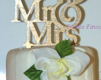 Mr & Mrs Wedding Acrylic Cake Topper In Many Colors