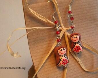 Russian dolls-handmade earrings-gift idea