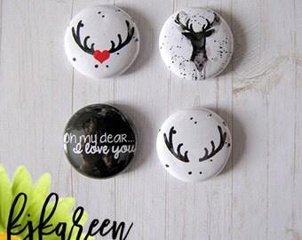 """Badge 1 """"- Deer"""