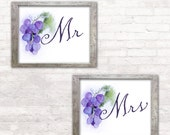 Winery Wedding Sign - Printed Mr and Mrs Signs - Vineyard Wedding - Wed de Provence - Purple Winery Grapes Signage - Reception Poster