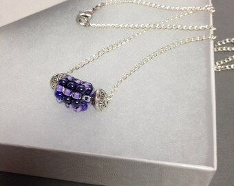 Beautiful bead weaved pendant necklace...