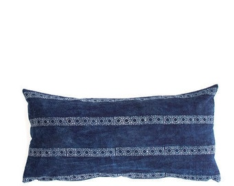Hmong Pillow, Hmong Pillow Cover, Hmong Throw Pillow, Hmong Lumbar Pillow, Hmong Batik Throw Pillow, Bohemian Pillow, Boho Throw Pillow