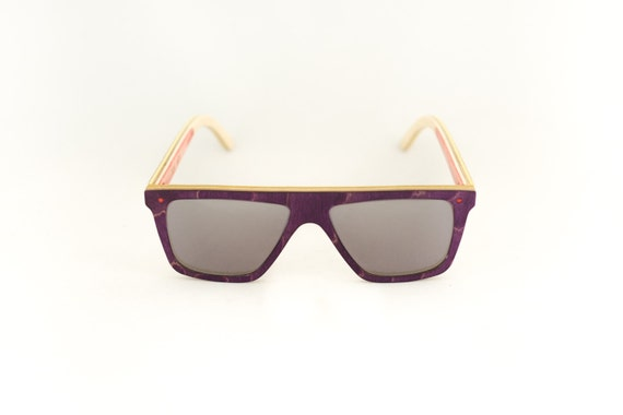 skateboard recycled sunglasses FUNBOX shape ! Purple grey mirror color #madeinfrance