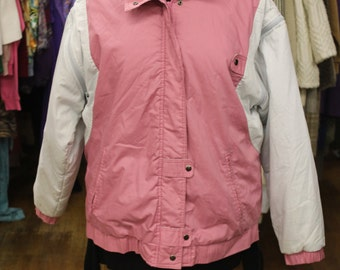 Vintage Pink and White Jacket with Removable Sleeves