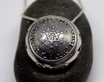 Ana Bekoach pendant ,  a woman of valor pendant, silver necklace, Jewish Gifts  , Kabbalah jewelry, Judaica, Star of David, new model