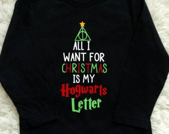 Harry Potter inspired Christmas shirt boy or girl