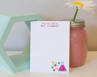 Personalized Science Teacher Notepad - Teacher Gift - Personalized Notepad - Teacher Notepad - Teacher Gift - Science Teacher