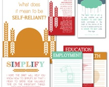 LDS YW Come Follow Me - November - What does it mean to be self-reliant? - Printable Lesson Helps - MB