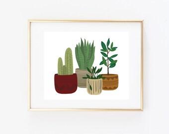 Art Print - Potted Plants
