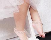 Baby Anklet with Bells, First Birthday,Flower Girl Gift, Jingle Ankle Bracelet, Gypsy Wedding, Modern Boho Baby Shower, Cake Smash Photo