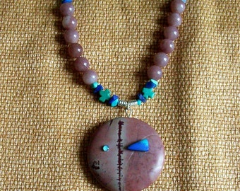Jasper Necklace Set with Turquoise, Opal and Lapis Lazuli