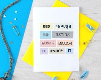 Retirement Card | Colleague Retirement | Coworker | Retiree | Leaving | Good Luck | Happy Retirement | Blank | SE0068A6