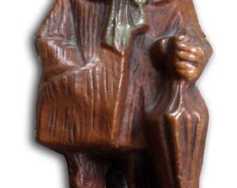 ON SALE Vintage Syroco/Wood Old Man with Umbrella Figurine