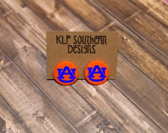 Auburn Earrings / Studs / SEC / Auburn / AU / War Eagle