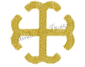 St Mary Cross Embroidery Design | Design Only | Design Pack Includes Five Sizes from .5 to 3.5 inches | Fits 4 x 4 Hoop