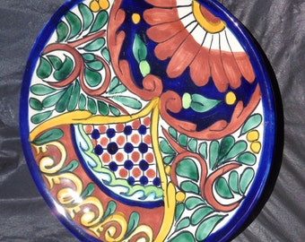 Talavera PLATE PLATTER Hand Painted Ceramic Mexican Pottery Decor HANDMADE