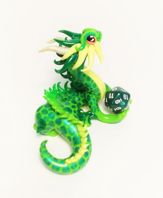 Polymer Dragon- Custom Traditional Asian Inspired- Choose Your Color Scheme