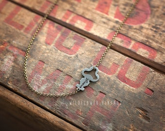 Infinity Key Necklace | Hand Stamped Vintage, Repurposed, Sideways, Enough Love Dream Necklace