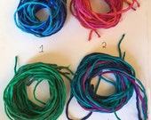 8 Lots of Hand Dyed 100% Silk String - Six Cords per Lot