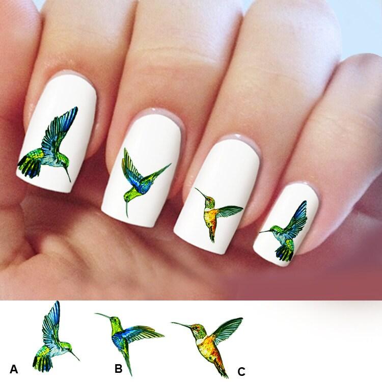 Hummingbird Nail Art 60 Nail Decals Humming Bird Nail Art