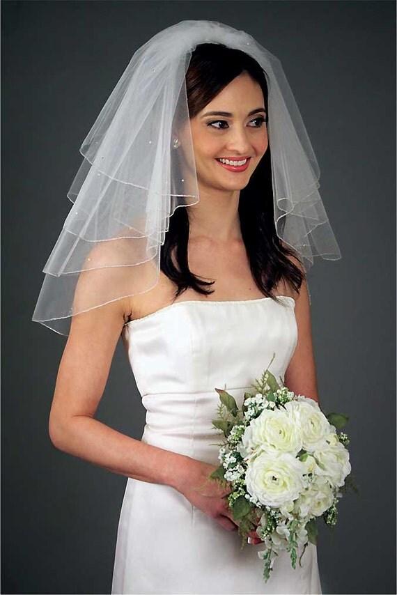 Shoulder Length Multi Layer Informal Wedding Veil