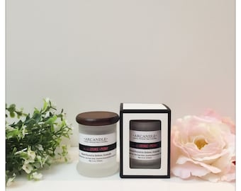 CLEARANCE - Coffee Greentea Lemongrass Soy Candle. FREE SHIPPING.  15+ hr burn time.