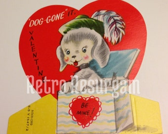 1940's Dog Valentine's Card