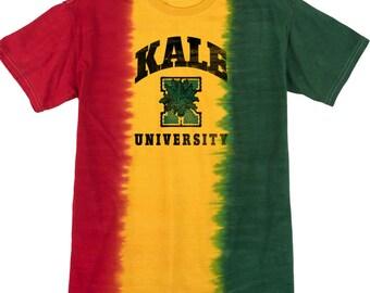Yoga Clothing For You Mens Shirt Kale University Lights Premium Tie Dye Tee Shirt = 1140-LKALE
