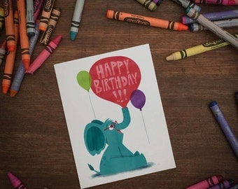 HAPPY BIRTHDAY! Elephant greeting card