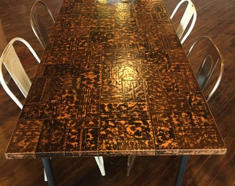 Copper Top Table (Copper Patch Work Design)