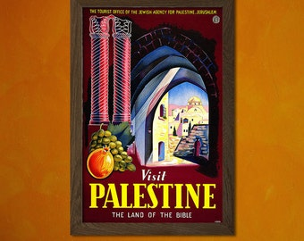 Palestine Travel Print - Vintage Travel Poster Travel Decor Palestine Prints Travel Wal Art Birthday Gift Palestine Poster