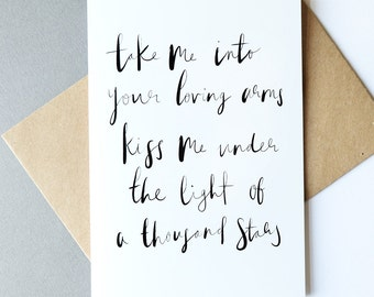 Take me into your loving arms // Greeting Card