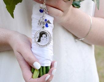Something Blue Bouquet Charm, Wedding Memorial Charm, Bridal Bouquet Charm, Gift For Brides, Bridal Accessories, Wedding Bouquet Charm